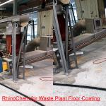RhinoChem for Waste Plant Floor Coating before