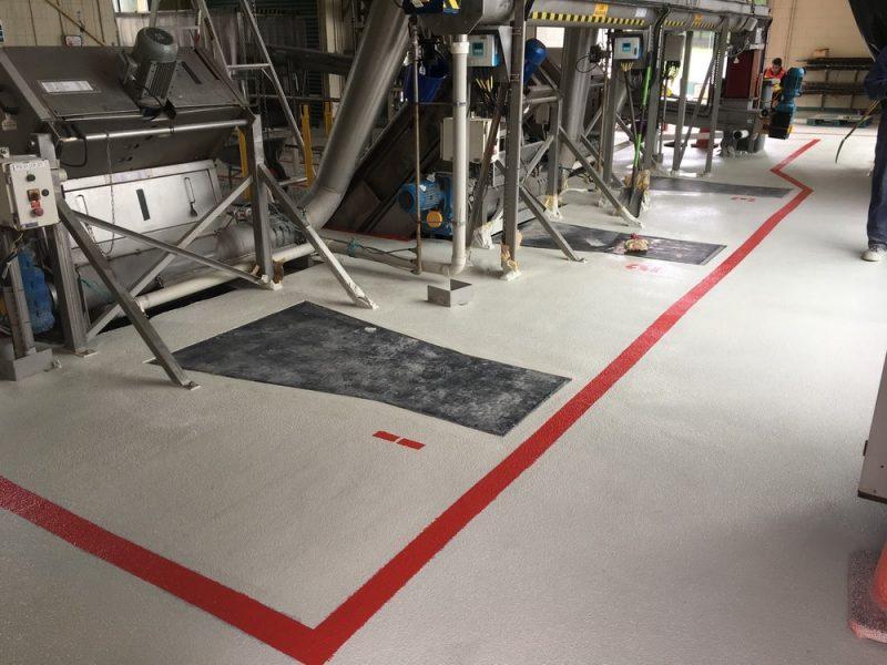 RhinoChem Waste Water Plant Flooring