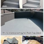 Rhino Deck Waterproofing coating over rooftop Deck