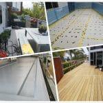 Rhino Waterproofing membrane over New Plywood Deck