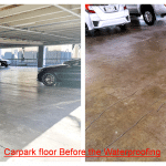 Waterproofing Commercial Carpark with Rhino Coating before