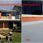 Rhino Waterproofing over New Plywood Deck