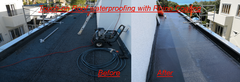 Touch-on Roof waterproofing with Rhino Coating