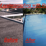 Touch-on Roof waterproofing with Rhino Tuff Stuff